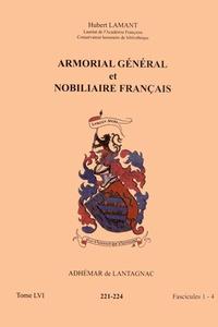 Hubert Lamant - Armorial général et nobiliaire français - Tome 56 fascicules 1-4, Adhémar de Lantagnac.