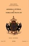 Hubert Lamant - Armorial général et nobiliaire français - Tome 66 fascicules 1-4, Murat-Sistrières.