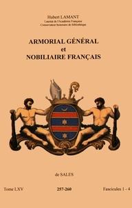 Hubert Lamant - Armorial général et nobiliaire français - Tome 65 fascicules 1-4, de Sales.
