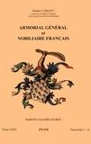 Hubert Lamant - Armorial général et nobiliaire français - Tome 69 fascicules 1-4, Martin-Salière d'Arve.