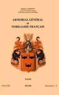 Hubert Lamant - Armorial général et nobiliaire français - Tome 62 fascicules 1-4, Stalins.