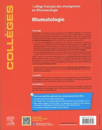 Rhumatologie. Réussir son DFASM 7e édition