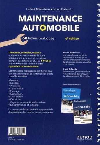Maintenance automobile. Le savoir-faire en 60 fiches pratiques 4e édition