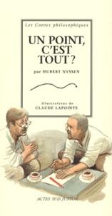 Hubert Nyssen - Un point, c'est tout ?.