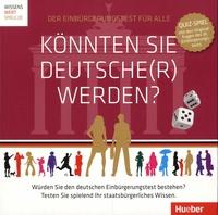 Hueber - Könnten Sie Deutsche(r) werden? - Avec 300 cartes quiz, 1 dé, 6 pions, 1 plateau.