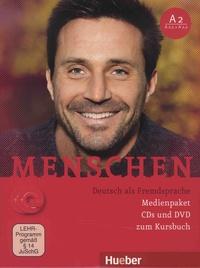 Hueber - Menschen A2 Medienpaket - Deutsch als Fremdsprache. 1 DVD + 2 CD audio