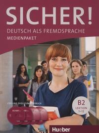 Hueber - Sicher! Deutsch als Fremdsprache Niveau B2 - Medienpaket. 2 DVD + 2 CD audio