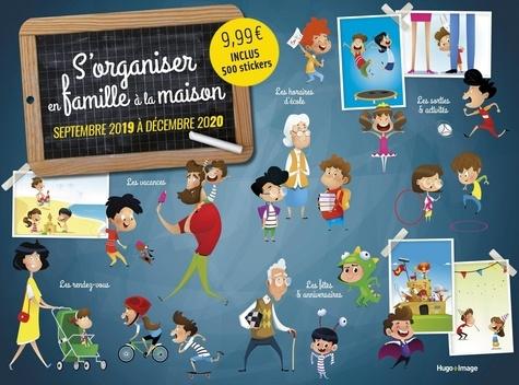 Hugo Image - Calendrier s'organiser en famille à la maison - Avec 500 stickers.