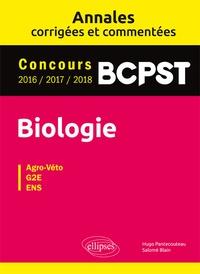 Histoiresdenlire.be Biologie BCPST - Annales corrigées et commentées. Concours 2016-2017-2018 Image