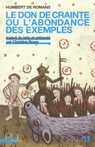 Humbert de Romans - Le don de crainte ou l'abondance des exemples.