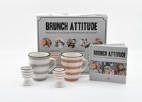 I2C - Coffret Brunch attitude - Brunch atttitude, idéal pour un réveil gourmand et plein de vitalité ! Avec 2 tasses, 2 coquetiers.