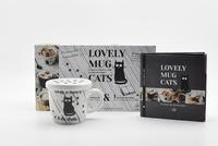 I2C - Coffret Lovely mug cats, vivre d'amour - Contient : 1 livre et 1 mug avec couvercle.
