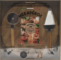 I2C - Mes apéros Dolce vita - 20 recettes à partager entre amis avec une roulette à découper et une pelle à pizza.