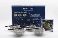 Téléchargements pdf ebook gratuits Mes bols santé, Poké bowls et Buddha bowls  - Avec un livre de 24 recettes, 4 bols céramiques et 4 paires de baguettes  in French 9782360914067 par I2C
