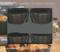 I2C - Soufflés, gratins, et autres douceurs - 4 ramequins couleur taupe et un livre de 32 nouvelles recettes.