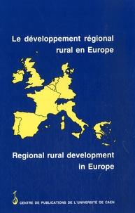 Histoiresdenlire.be Le développement régional rural en Europe - Edition bilingue français - anglais Image