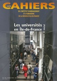 François Dugény - Les Cahiers de l'IAURIF N° 143, Octobre 2005 : Les Universités en Ile-de-France.