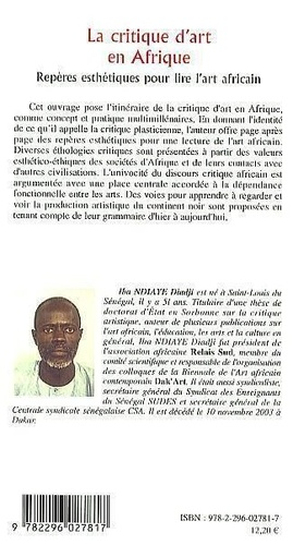 La critique d'art en Afrique. Repères esthétiques pour lire l'art africain