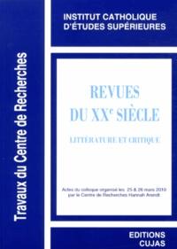 ICES - Revues du XXe siècle - Littérature et critique.