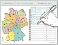 Ich kenne Deutschland - Bundesländer und Landeshauptstädte - Stabile wiederbeschreibbare Lernvorlage im großen Format für die Schulmappe 32,5 x 25 cm (Vorder- und Rückseite).