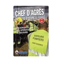 """Icone Graphic - Chef d'Agrès 1 équipe SPV SPP"""" - Encadrant(e) des opérations de secours."""