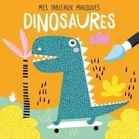 Idées Book - Dinosaures - Mes tableaux en peinture magique. Avec 1 pinceau.