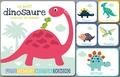 Idées Book - Le petit dinosaure cherche sa maman - 1 livre et 4 jeux de cartes : loto, memory, mistrigri, domino.