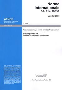 IEC - Norme internationale CEI 61078 - Techniques d'analyse pour la sûreté de fonctionnement ; Bloc-diagrammes de fiabilité et méthodes booléennes, édition 2006.