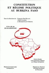 François-Paul Blanc et Albert Lourde - Cahiers du CERJEMAF  : Constitution et régime politique au Burkina Faso.