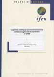 IFEN - L'opinion publique sur l'environnement et l'aménagement du territoire en 1998.