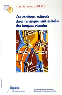 IGEN - Les contenus culturels dans l'enseignement scolaire des langues vivantes.