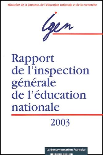 IGEN - Rapport de l'inspection générale de l'éducation nationale.