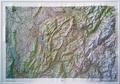 IGN - Annecy Mont Blanc - Carte en relief 1/100 000.