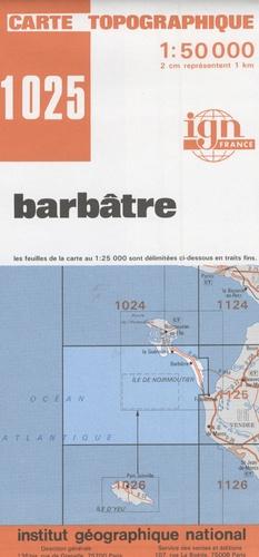 IGN - Barbâtre - 1/50 000.