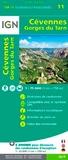 IGN - Cévennes Gorges du Tarn - 1/75 000.