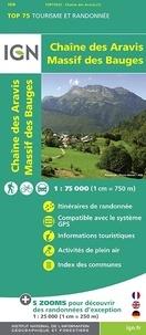 IGN - Chaîne des Aravis, Massif des Bauges - 1/75 000.