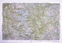 IGN - Ecrins-Queyras - Carte en relief 1/100 000.