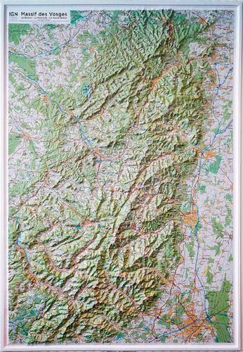 massif des vosges carte Massif des Vosges   Carte en relief 1/100 000 de IGN   Livre   Decitre