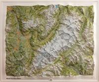 IGN - Massif du Mont-Blanc relief - Carte en relief 1/50 000.