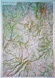 IGN - Monts d'Auvergne - Carte en relief 1/100 000.