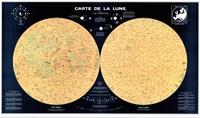 Feriasdhiver.fr Poster Lune plastifié 2 hémisphères - Format 75 x 129 cm Image