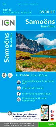 IGN - Samoëns, Haut-Giffre - 1/25 000.
