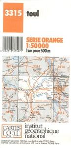 Toul- 1/50 000 -  IGN pdf epub