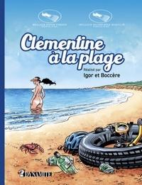 Igor et  Boccère - Clémentine à la plage.