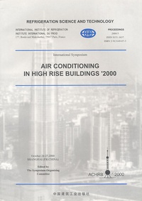 IIF-IIR - Air Conditioning in High Rise Buildings '2000. 1 Cédérom
