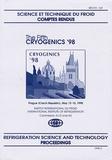 IIF-IIR - The Fifth Cryogenics '98 - Proceedings IIR International Conference, Prague 1998.