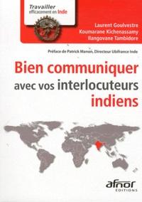 Ilangovane Tambidore et Laurent Goulvestre - Bien communiquer avec vos interlocuteurs indiens.