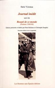 Ilarie Voronca - Journal inédit suivi de Beauté de ce monde (Poèmes 1940-46).