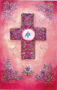 """Images Chrétiennes Editions - Lot de 25 images """"croix rose""""."""