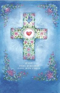 """Images Chrétiennes Editions - Lot de 25 images """"Jésus viens demeurer dans mon coeur""""."""